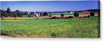 Scenic View Of A Farm, Pennsylvania Canvas Print by Panoramic Images