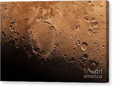 Schiaparelli Crater, Artwork Canvas Print by Detlev van Ravenswaay