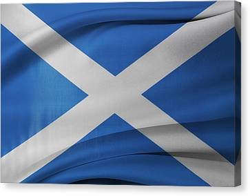 Scottish Flag Canvas Print by Les Cunliffe