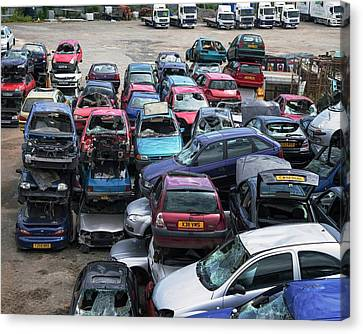 Scrap Cars Canvas Print by Robert Brook