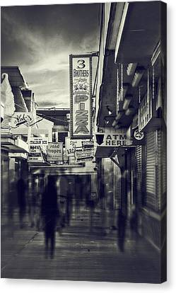 Seaside Boardwalk Canvas Print by Kim Zier
