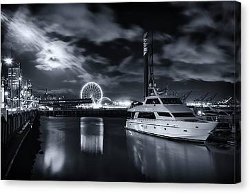 Seattle Waterfront Marina Canvas Print by Tanya Harrison
