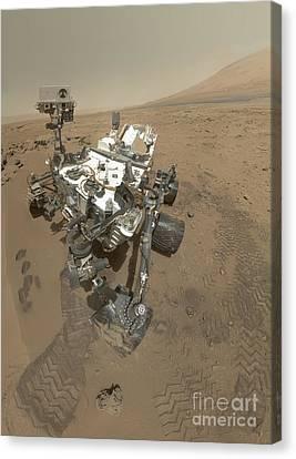 Self-portrait Of Curiosity Rover Canvas Print by Stocktrek Images