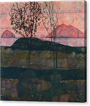 Setting Sun Canvas Print by Mountain Dreams
