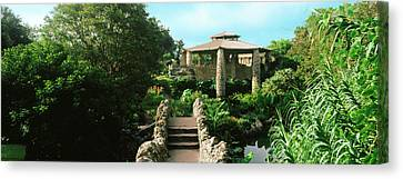 Shelter In Japanese Tea Garden, San Canvas Print by Panoramic Images