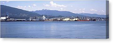 Shipyard At Vancouver, British Canvas Print by Panoramic Images