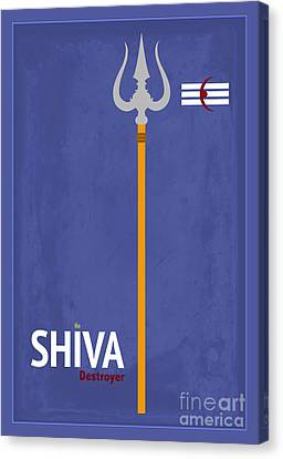 Shiva The Destroyer Canvas Print by Tim Gainey