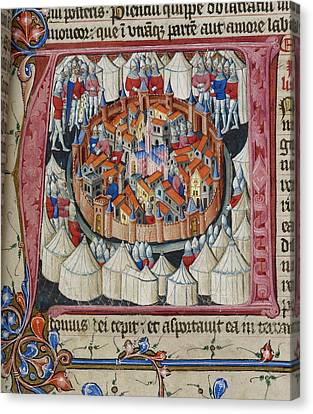 Siege Of Jerusalem Canvas Print by British Library