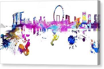 Singapore Canvas Print by Doc Braham