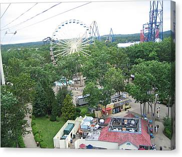 Six Flags Great Adventure - 12125 Canvas Print by DC Photographer
