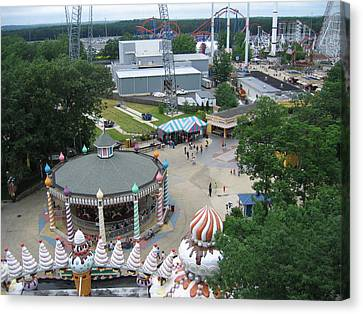 Six Flags Great Adventure - 12127 Canvas Print by DC Photographer