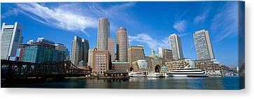 Skyscrapers At The Waterfront, Boston Canvas Print by Panoramic Images
