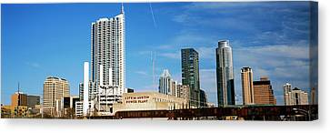 Skyscrapers In A City, Austin, Texas Canvas Print by Panoramic Images