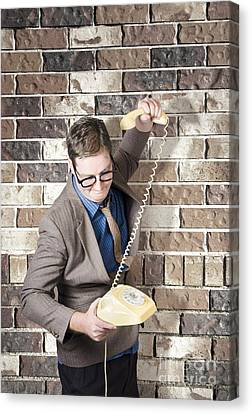 Slamming Down The Phone. Like A Boss Canvas Print by Jorgo Photography - Wall Art Gallery