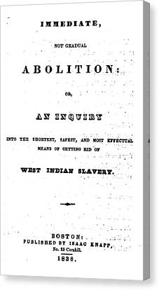 Slavery. An Abolitionist Book. The Canvas Print by Everett