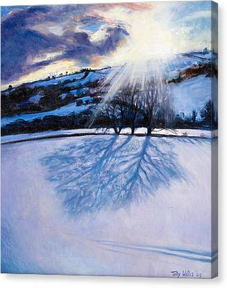 Snow Shadows Canvas Print by Tilly Willis