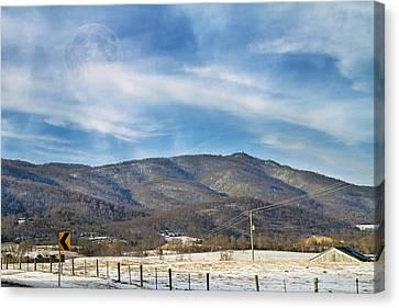 Snowy High Peak Mountain Canvas Print by Betsy Knapp