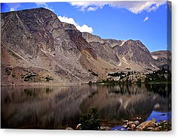 Snowy Mountain Loop 1 Canvas Print by Marty Koch