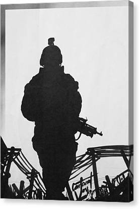 Soldier Canvas Print by David Cohen