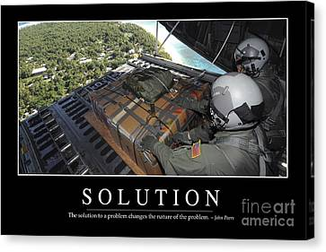 Solution Inspirational Quote Canvas Print by Stocktrek Images