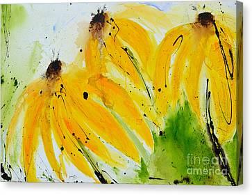Sonnenhut -  Floral Painting  Canvas Print by Ismeta Gruenwald