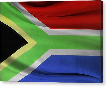 South African Flag  Canvas Print by Les Cunliffe