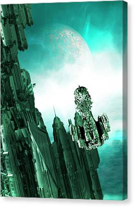 Spacecraft Canvas Print by Victor Habbick Visions