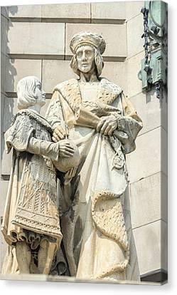 Spain, Barcelona, Christopher Columbus Canvas Print by Jim Engelbrecht