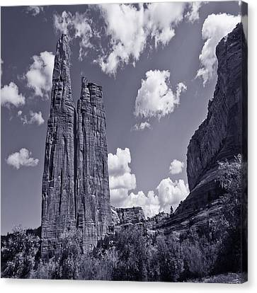 Spider Rock Canyon De Chelly Canvas Print by Bob and Nadine Johnston