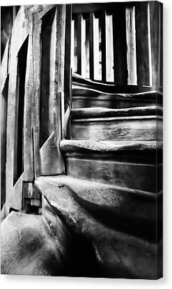 Spiral Staircase Canvas Print by John  Bartosik