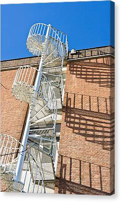 Spiral Staircase Canvas Print by Tom Gowanlock