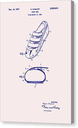 Sport Shoe Patent 1971 Canvas Print by Mountain Dreams