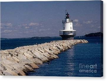 Spring Point Ledge Lighthouse Canvas Print by Bruce Roberts