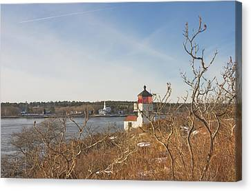 Squirrel Point Lighthouse Kennebec River Maine Canvas Print by Keith Webber Jr