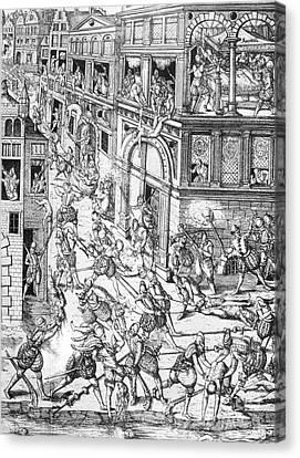 St. Bartholomews Day Massacre, 1572 Canvas Print by Photo Researchers
