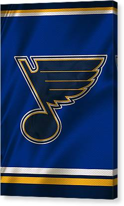St Louis Blues Uniform Canvas Print by Joe Hamilton