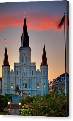 St. Louis Cathedral 15 Canvas Print by Chris Moore