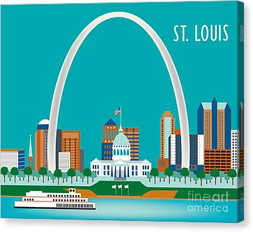 St. Louis Canvas Print by Karen Young