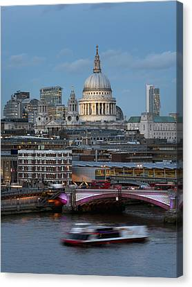 St. Paul_s Cathedral And Blackfriars_ Canvas Print by Charles Bowman