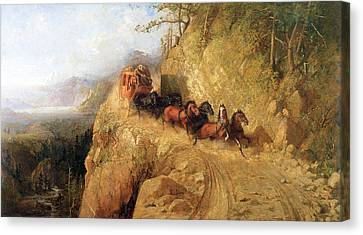 Staging In California Canvas Print by Gutzon Borglum