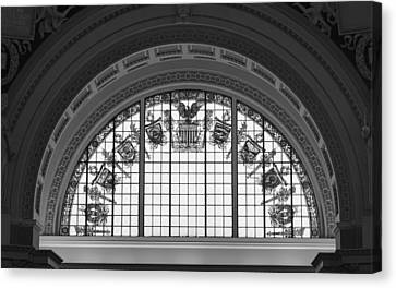 Stained Glass - Library Of Congress Canvas Print by Mountain Dreams