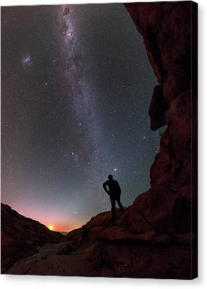 Stargazing In The Atacama Desert Canvas Print by Babak Tafreshi