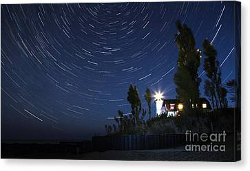 Stars Over Point Betsie Canvas Print by Twenty Two North Photography