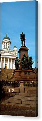 Statue Of Alexander II In Front Canvas Print by Panoramic Images