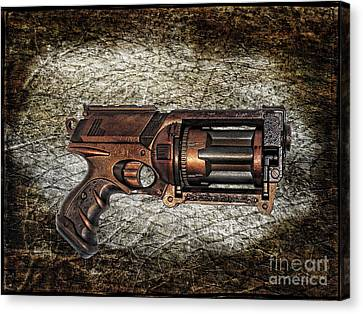 Steampunk - Gun - The Multiblaster Canvas Print by Paul Ward