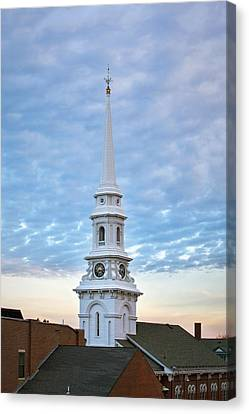 Steeple And Rooftops Canvas Print by Eric Gendron
