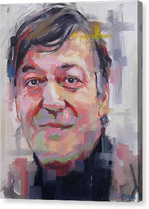 Stephen Fry  Canvas Print by Richard Day