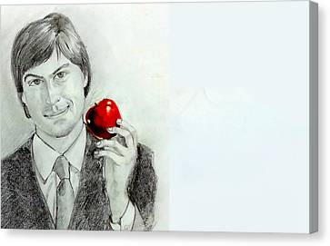 Steve Jobs Canvas Print by Mayur Sharma