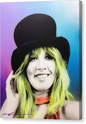 Stevie Nicks - 'stevie' Canvas Print by Christian Chapman Art