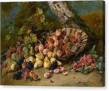 Still Life With Fruits Canvas Print by Madeleine Jeanne Lemaire